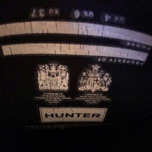 Matte black Original Tall Hunter Rain/Snow boots.